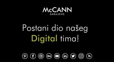 Postani dio našeg McCann Sarajevo Digital tima